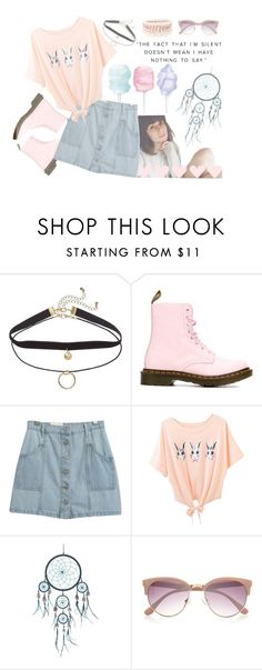 """I can be very girly at times -- with Dodie Clark // Doddleoddle"" by audrey-panda ❤ liked on Polyvore featuring Dr. Martens, Chicnova Fashion, River Island and Lipsy"