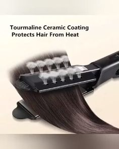 Ceramic Tourmaline Ionic Flat Iron Hair Straightener - This revolutionary Hair Brush Comb will have your hair straight, silky and soft within minutes. No Heat Hairstyles, Protective Hairstyles, Straight Hairstyles, Steam Hair Straightener, Hair Straightening Iron, Curly Hair Styles, Natural Hair Styles, Rides Front, Thick Hair