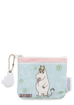 Cute and Coy Change Purse. Moomin fans and friends of adorbs accessories alike will adore the whimsical imagery on this Disaster Designs change purse! #blue #modcloth