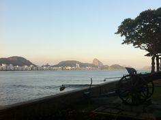 Forte Copacabana RJ  A happy breakfast!