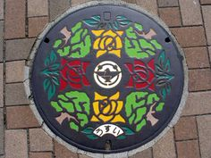 Beautiful Manhole Cover Art in Japan
