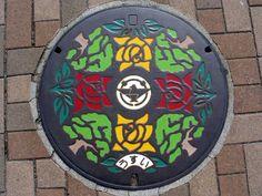 Ibaraki City   Beautiful Manhole Cover Art Of Japan