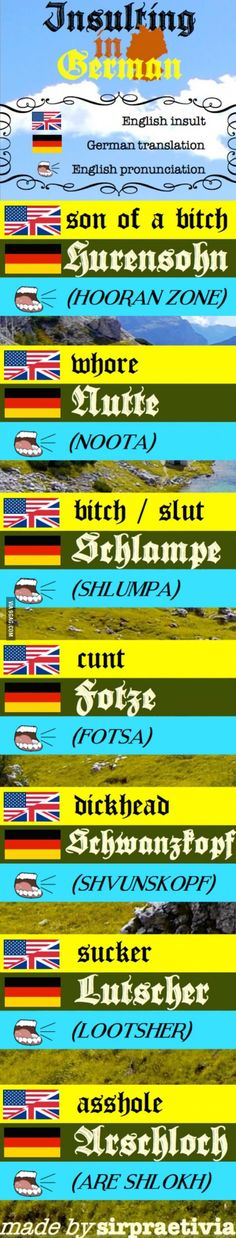 Insulting in German