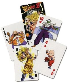 Dragon Ball Z: Playing Cards by Great Eastern Entertainment. $9.99. Dragon Ball Z: Playing Cards. 52 cards.. Save 33%!