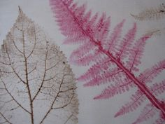 DIY: printing with leaves MORE printing ideas http://www.artfulparent.com/2012/04/printmaking-ideas-for-kids-a-round-up.html