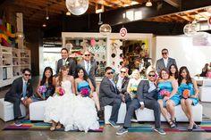#art #gallery #colorful #wedding #reception