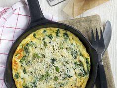 Omelette aux épinards et mozzarella : Recette de Omelette aux épinards et mozzarella - Marmiton