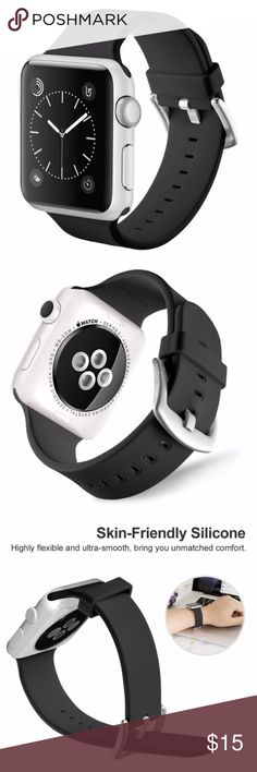 069599f9c0d Watch band Apple Watch 42MM Soft Silicone Clasp NWT unisex High Quality  Material - interchangeable accessory