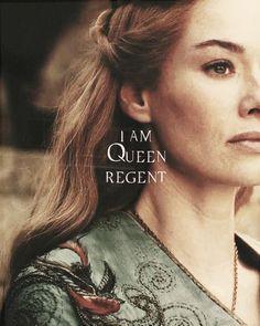 Cersei Lannister: I am Queen Regent. Game Of Thrones Books, Game Of Thrones Quotes, Hbo Series, Best Series, Cercei Lannister, Queen Cersei, Light Games, Sansa Stark, Film Movie