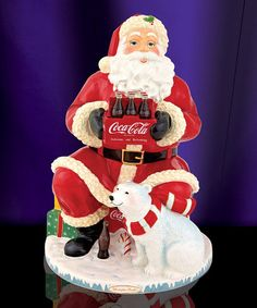 Keep the holiday cookies in this charming keepsake Coca-Cola jar to add seasonal cheer to family dessert. Coke Santa, Coca Cola Santa, Coca Cola Christmas, Christmas Snacks, Santa Christmas, Christmas Stuff, Christmas Decor, Christmas Ornaments, Coca Cola Bear
