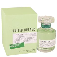 New #Fragrance #Perfume #Scent on #Sale United Dreams Live Free by Benetton 2.7 oz EDT Spray - As a part of a project aimed at bringing a positive message to women everywhere, United Dreams Life Free was launched by Benetton in the summer of 2014, prompting a huge surge of interest in the company. This clean, sweet fragrance uses top notes of green apple, tea, bergamot and yuzu to create an interesting tangy experience, while heart notes of orange blossom, cardamom and cyclamen sweeten the…
