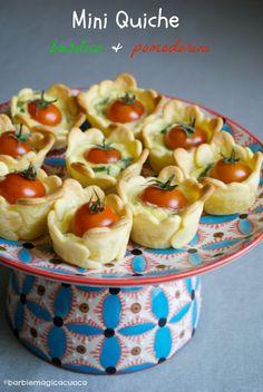 Mini quiches basilic et tomates cerises - Mini quiche con basilico e pomodorini