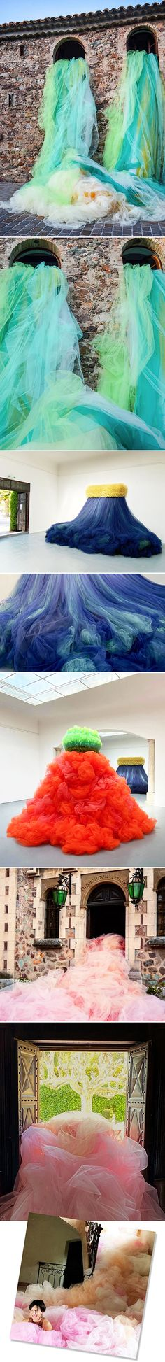 The Jealous Curator /// curated contemporary art /// ana maria hernando French Castles, Art Society, Japanese Artists, American Artists, Installation Art, Beautiful Images, Color Splash, Contemporary Art, Vibrant Colors