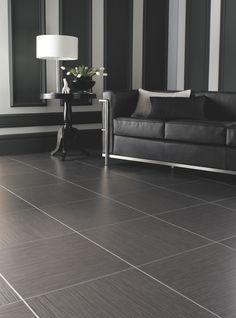 Amtico: Luxury vinyl stone tiles from Irvine Flooring Vinyl Flooring Rolls, Monochrome Interior, Interior Design, Painted Brick Walls, Vinyl Floor Covering, Luxury Vinyl Tile, Vinyl Tiles, Carpet Flooring, Tile Floor