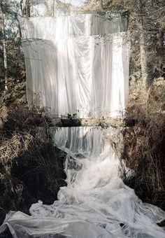 Fake Sheet Waterfall.  This isn't real nature. No better pinboard.