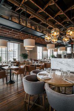 Begehren Sie NYC, bei 172 Madison Avenue New York - Gastro - Restaurant Decoration Restaurant, Bar Restaurant Design, Deco Restaurant, Restaurant Lighting, Modern Restaurant, Bar Lighting, Restaurant Layout, Restaurant Ideas, House Restaurant
