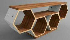 [New] The 10 Best Home Decor Today (with Pictures) - Tavoline per Tv dhe cdo aparat tjeter digital. E krijuar e gjitha me dru ahu. E pershtatshme per cdo dekor. Tv Wall Design, Wall Shelves Design, Cool Furniture, Furniture Design, Hall Flooring, Floor Shelf, Tv Wall Decor, Hexagon Shelves, Woodworking Projects Diy