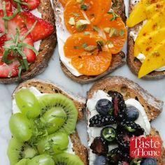 Rainbow Toast Recipe