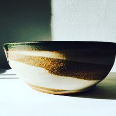 Bowl: Rustic bowl with swirls