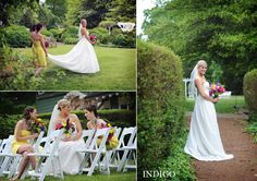 Bright, colorful bouquets for a bride and her girls at The VanLandingham Estate - Photographed by Indigo Photography.