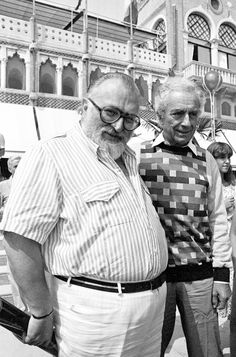 Sergio Leone with Michelangelo Antonioni outside the Excelsior hotel, Lido, Venice, I am not the author of these images. Check out Robert Bresson and Sergio Leone chilling in Venice right here Martin Scorsese, Cinema Movies, Film Movie, Stanley Kubrick, Alfred Hitchcock, Nine Out Of Ten, Robert Bresson, Pier Paolo Pasolini, Michelangelo Antonioni
