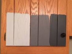 Image result for gel stain oak cabinets before and after