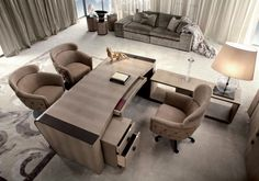 Luxurious office Leather finishes Luxury Furniture, Furniture Design, Traditional Office, Small Tables, Furniture Companies, Luxury Living, Decoration, Recliner, Home Accessories