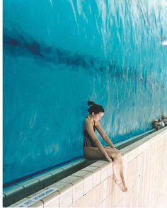 Taking a look at the swimming pool. From a quite different perspective.