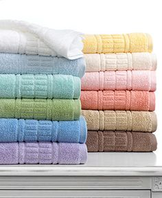 "Martha Stewart Collection Bath Towels, Plush 30"" x 54"" Bath Towel - Bath Towels - Bed & Bath - Macy's"