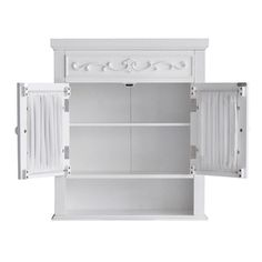 White Bathroom Wall Cabinets white cottage style bathroom wall cabinet storage shelf | double