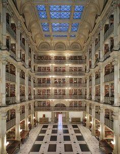libraries, georg peabodi, peabodi librari, baltimore, book, maryland, dream library, place, the beast