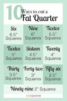 10 Ways to cut a Fat Quarter