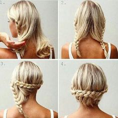 Braid mid length hair