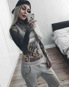 HD Image of Monami Frost Morning homeswag hair by Hot Tattoo Girls, Tattoed Girls, Inked Girls, Hot Tattoos, Body Art Tattoos, Girl Tattoos, Arabic Tattoos, Sleeve Tattoos, Monami Frost