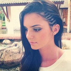 New hairstyle: The 18-year-old model and reality star's latest cornrow hairstyle was praised by Marie Claire Twitter on Wednesday which also drew some negative responses