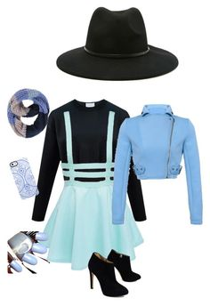"""""""Shades of blue"""" by fabturtle123 on Polyvore featuring Forever 21, Paula Bianco, Uncommon and Giuseppe Zanotti"""