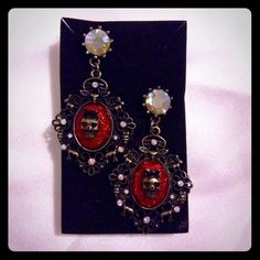 "Selling this ""Beautiful Skull Chandelier Earrings"" in my Poshmark closet! My username is: melissanbravo. #shopmycloset #poshmark #fashion #shopping #style #forsale #Jewelry"