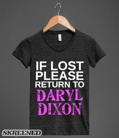 RETURN TO DARYL DIXON | IF LOST PLEASE RETURN TO DARYL DIXON #Skreened #DarylDixon #Claimed The Walking Dead