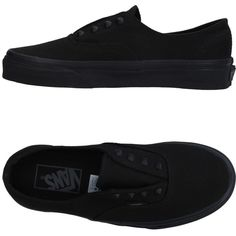Vans Sneakers (1.840 CZK) ❤ liked on Polyvore featuring shoes, sneakers, black, black flat sneakers, vans shoes, black studded sneakers, slip-on shoes and black trainers