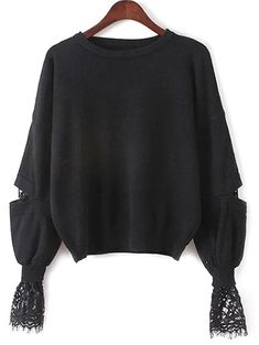 SHARE & Get it FREE | Lantern Sleeve Lace Spliced SweaterFor Fashion Lovers only:80,000+ Items • New Arrivals Daily Join Zaful: Get YOUR $50 NOW!
