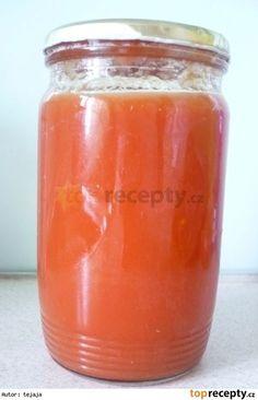 paradajkový pretlak Cantaloupe, Salsa, Pudding, Jar, Fruit, Desserts, Food, Author, Tailgate Desserts