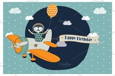 Happy Birthday Vector Card by Adiroz on @creativemarket