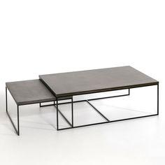 Table basse Auralda, taille 2 AM.PM : prix, avis & notation, livraison. Le table basse Auralda. À utiliser seule ou en table gigogne avec la deuxième taille vendue sur notre site. Caractéristiques : - Plateau en résine finition polyuréthane.- Piètement en métal finition époxy. Dimensions : - L120 x H40 x P80 cmDimensions et poids du colis : - L129 x H47 x P90 cm, 42 kg