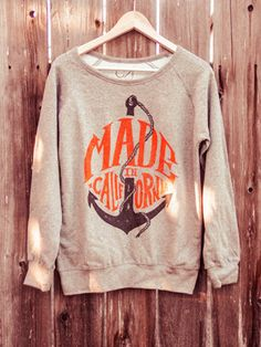 Made in California sweater #anchor #typography