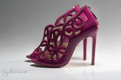 Sapato Suede Vinho Bordado by GUILHERMINA SHOES  #shoes #guilherminashoes #ebrands