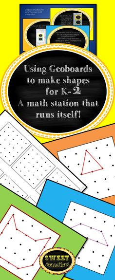 Looking for a shape math station that runs itself? Then you've found it! Run this powerpoint presentation as a slideshow on your computer for a small group, or even better project it to your smart board or AverKey to show on a bigger scale!