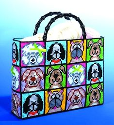 everything plastic canvas | dogs tote bag plastic canvas tapestry needlepoint kit 1827 plastic
