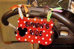 DIY Stroller Sign #Signs #DIY #Disney #Travel #RoadTrips #RoadTrip #Vacation