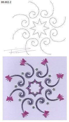 08.002.2 borduren op papier 08.002.2 embroidery on paper 08.002.2 broderie sur papier: