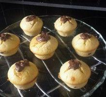 Recette - Muffin au Nutella - Notée 4.2/5 par les internautes Muffin Nutella, Brownie Cookies, Mini Muffins, Mini Desserts, Cookies Et Biscuits, Cooking Time, Cake Recipes, Cheesecake, Brunch